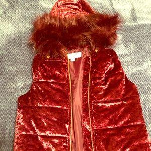 Authentic Michael Kors Vest With faux fur trimming